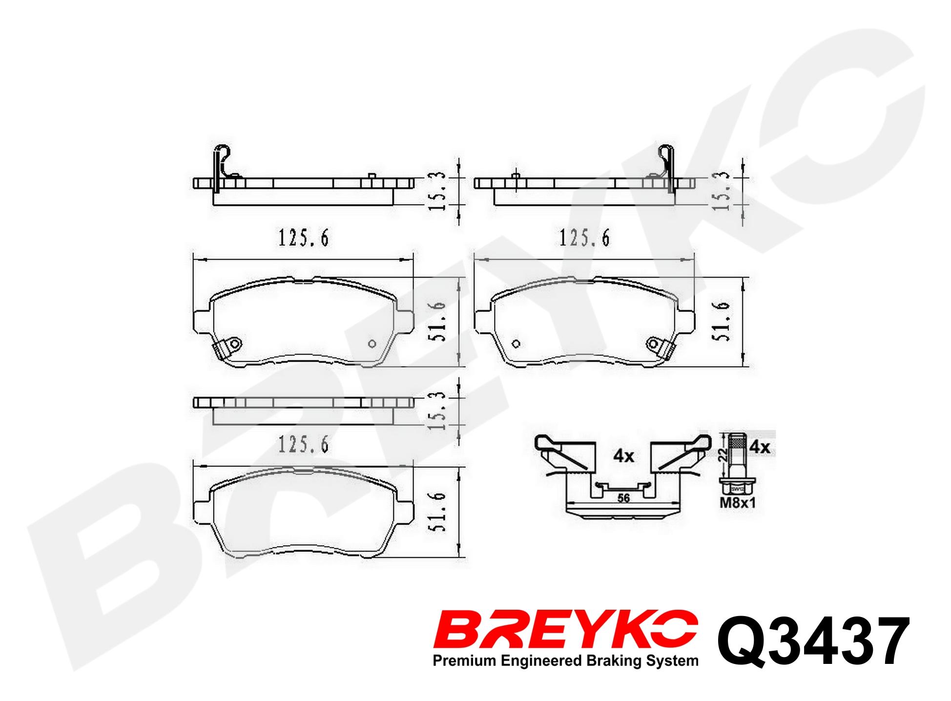 Front Delphi Brake Pads Daihatsu Materia 1.0 1.0 DVVT 1.3 1.3 DVVT Turbo 1.5